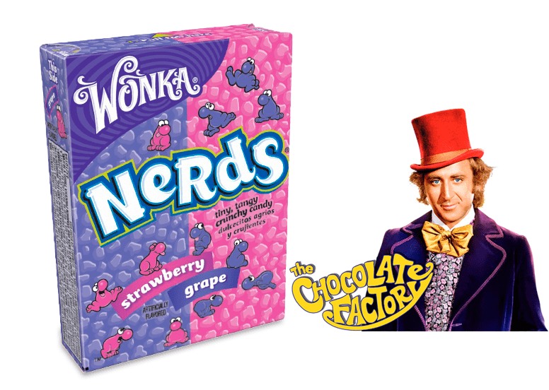 Wonka Nerds grape-strawberry или Вонка Нердс виноград и клубника
