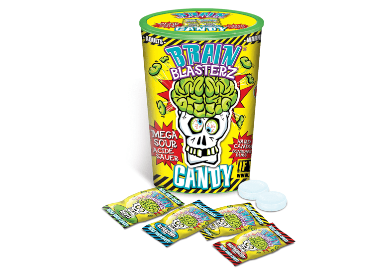Brain Blasterz Mega Sour Candy или Брейн Блестерз Мега Кислые леденцы