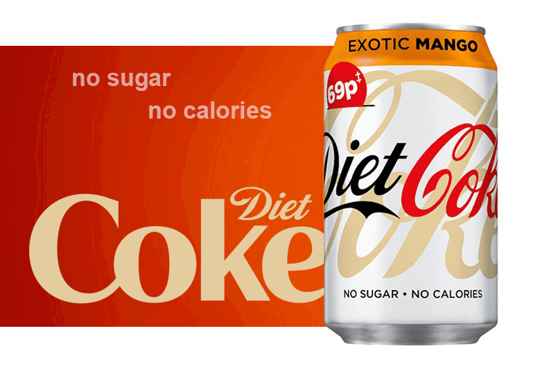 Diet Coke Exotic Mango или Дает Кок Экзотический Манго
