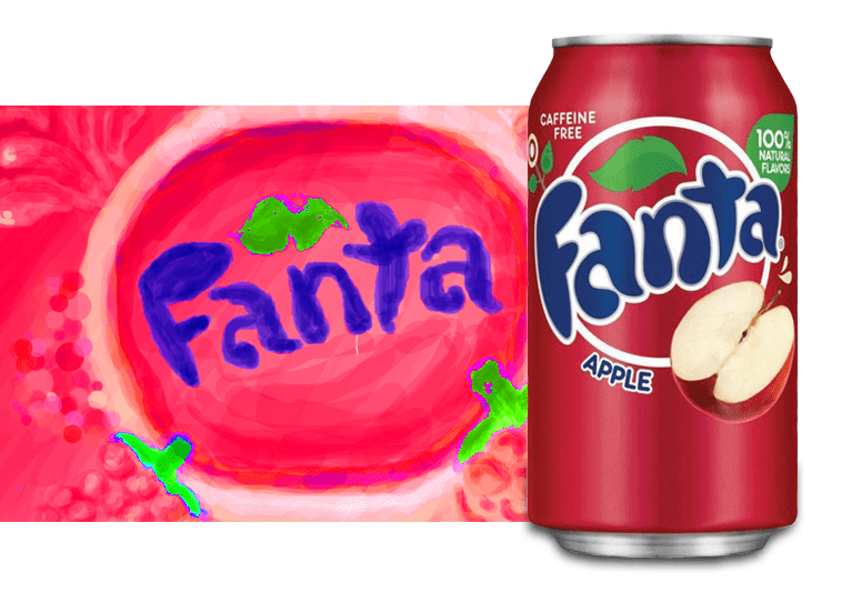 Fanta Apple или Фанта Яблоко