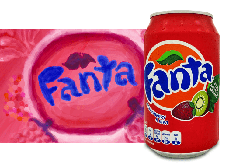 Fanta Strawberry and Kiwi или Фанта Клубника и Киви