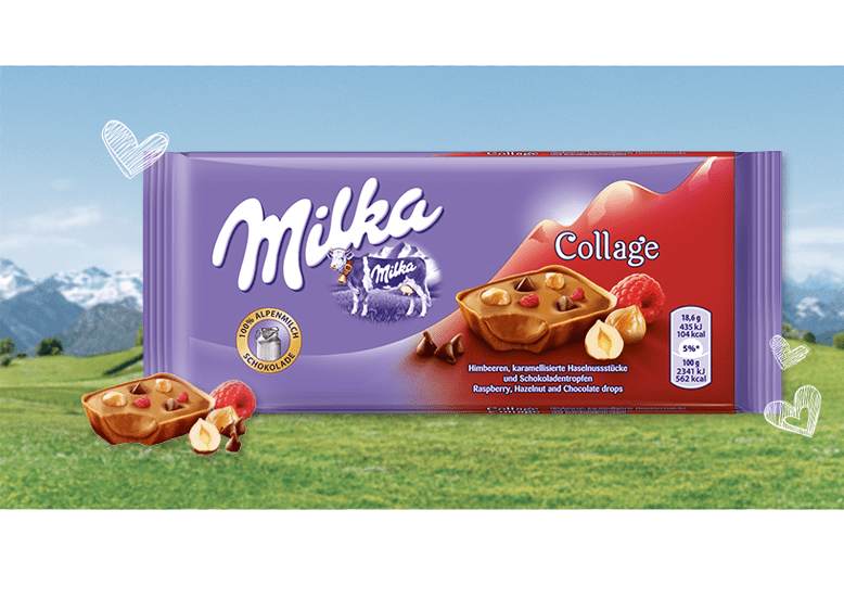 Milka Collage Raspberry или Милка Коллаж Малина