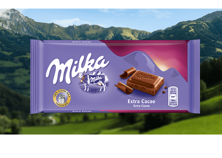Milka Extra Cocoa 100g или Милка Экстра Какао 100г