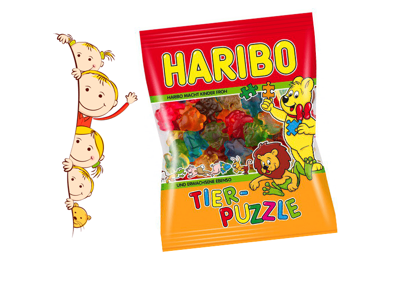 Haribo Tier-Puzzle или Харибо Пазлы