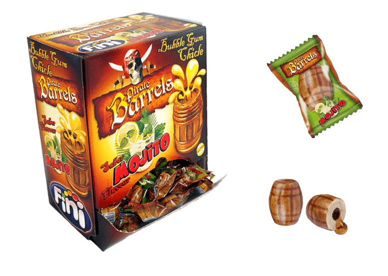 Fini Pirate Barrels Mojito Gum или жевачка Фини пиратские бочки со вкусом мохито