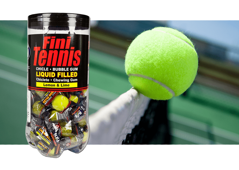 Fini Tennis Gum Lime and Lemon или жевачка Фини теннис с лимоном и лаймом