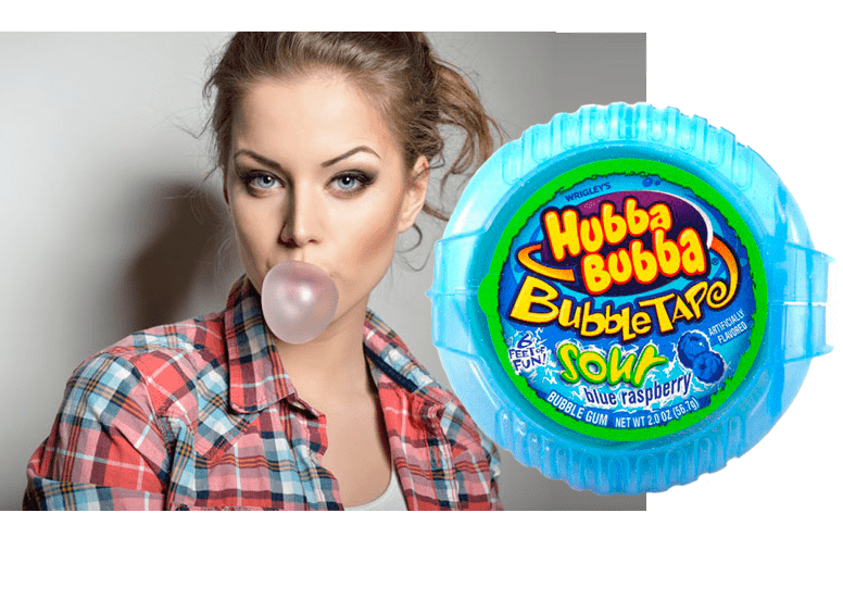 Hubba Bubba MegaLong Blue Raspberry или жевачка Хуба Буба Кислая голубая Малина
