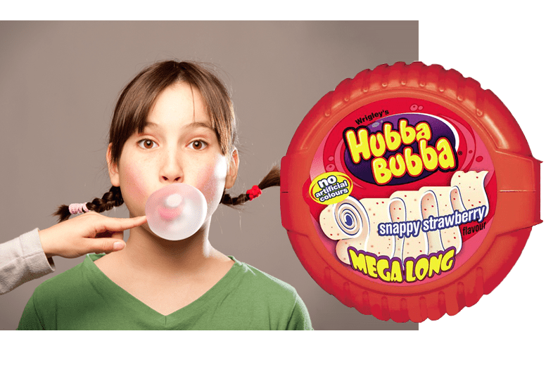 Hubba Bubba MegaLong Snappy Strawberry  или жевачка Хубба Бубба МегаЛонг Клубника